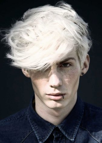 Белые оттенки волос у мужчин