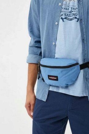 Мужская сумка на пояс