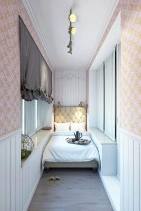 Спальня на балконе и лоджии