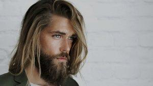 Варианты мужских причесок на длинные волосы