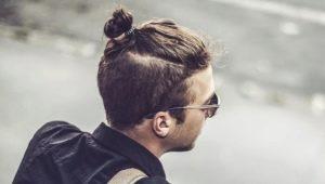 Виды мужской прически Topknot (топ кнот)