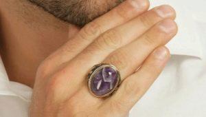 Мужские кольца с аметистом: виды, особенности выбора и ношения