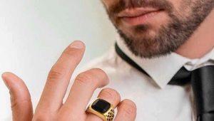 Мужские золотые кольца: виды и выбор