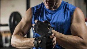 Мужские перчатки для тренажерного зала и спорта