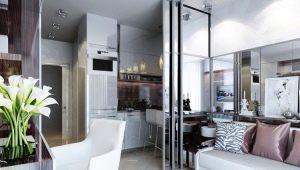 Дизайн студии площадью 27 кв. м