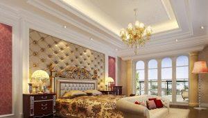 Все о потолках из гипсокартона в спальне
