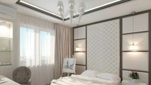 Оформление интерьера спальни размером 13 кв. м