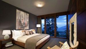 Варианты дизайна спальни в частном доме
