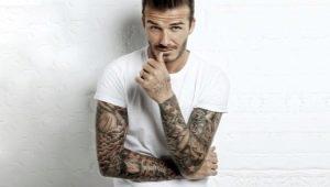 Черно-белые тату для мужчин в виде рукава