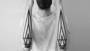 Мужские тату в стиле минимализм