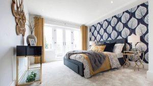Особенности акцентной стены в спальне и ее оформление