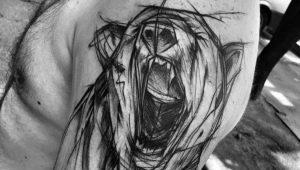 Обзор мужских тату в стиле скетч