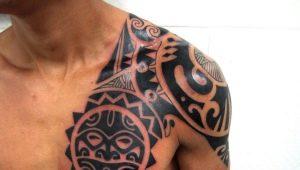 Разнообразие мужских тату в стиле трайбл