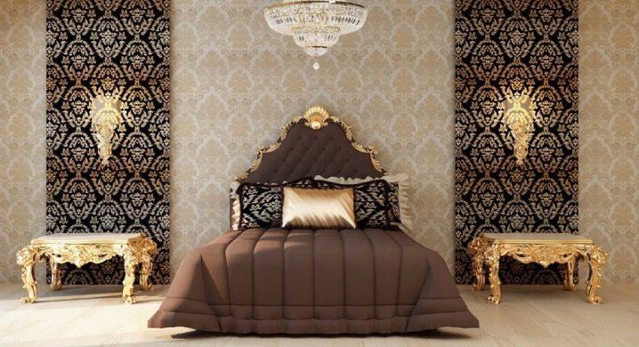 Комбинированные обои в спальне