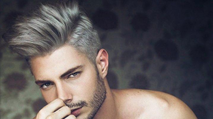 Пепельный цвет волос у мужчин: кому идет и как выполнить окрашивание?