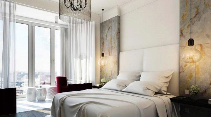 Дизайн спальни с балконом или лоджией