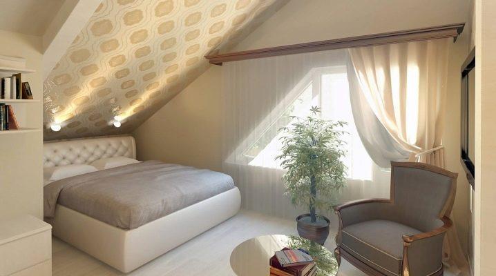 Как обустроить спальню на мансарде?