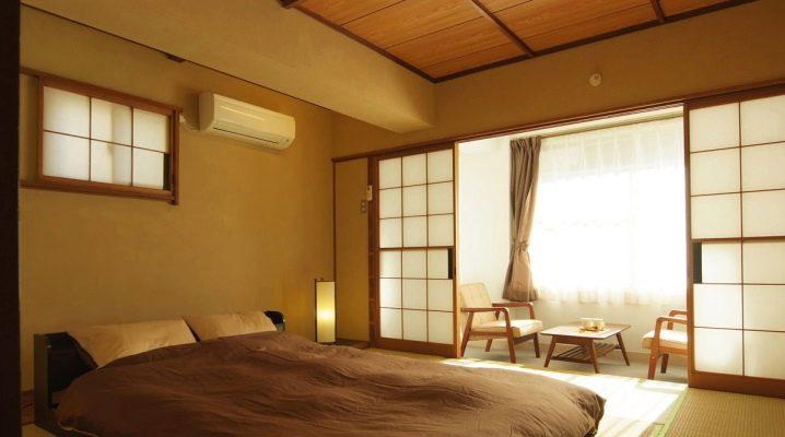 Варианты оформления спальни в японском стиле