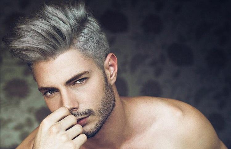 Пепельный цвет волос у мужчин (37 фото): выбор серой краски для мужских причесок. Как покрасить волосы в серебряный цвет? Кому подойдет окрашивание?
