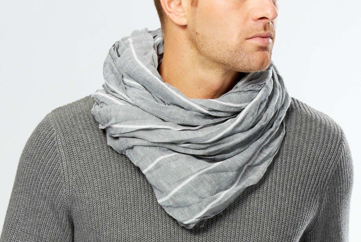Мужские шарфы: стильное решение