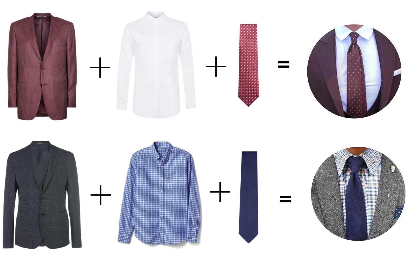 как правильно подобрать галстук к костюму фото дуба долговечны неприхотливы