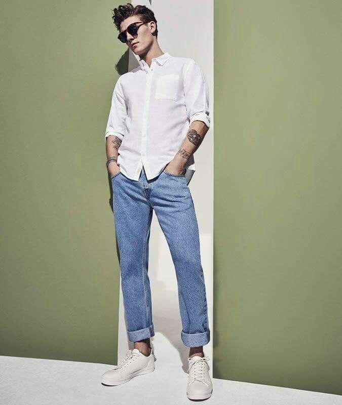 Высокие кроссовки мужские с чем носить