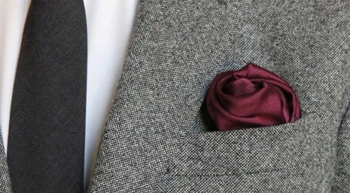 как сделать платок для пиджака