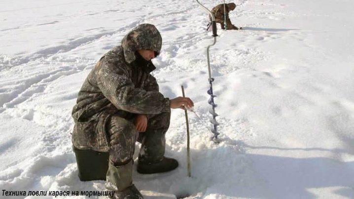 Ловля карася зимой на мормышку; снасти, техника и правильная игра